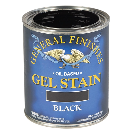 Gel Stain, Oil Based, Black, Pint