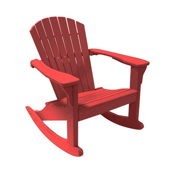 CLASSIC ROCKING ADIRONDACK CHAIR, CARDINAL RED