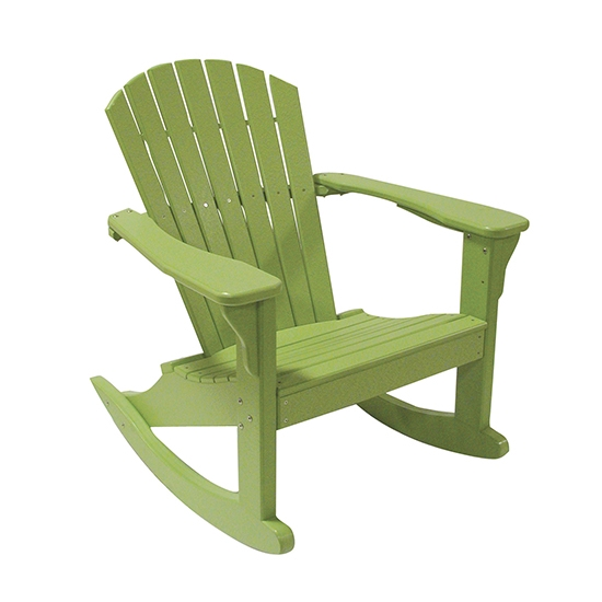 CLASSIC ROCKING ADIRONDACK CHAIR, LIME GREEN