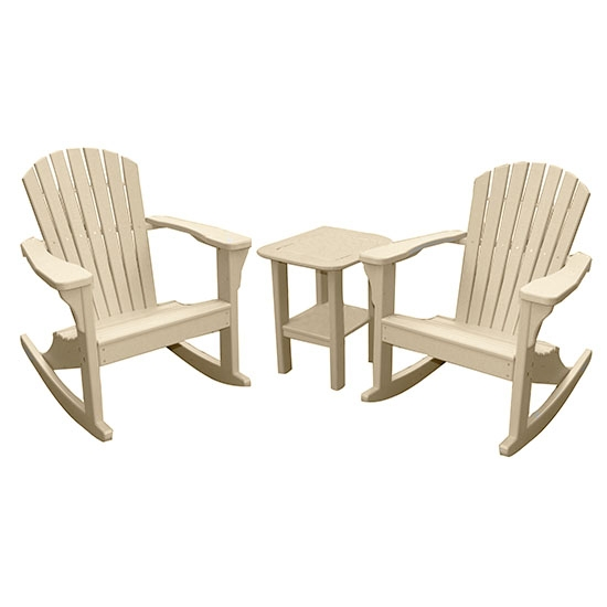 ROCKING CHAIRS WITH SIDE TABLE SET, SANDSTONE