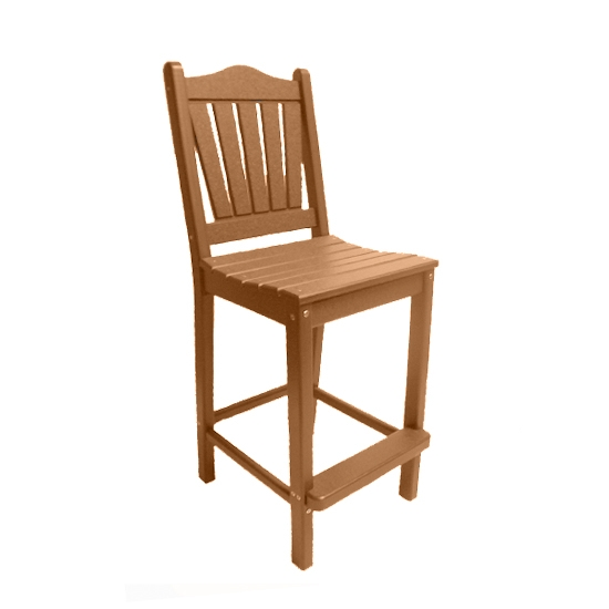 TRADITIONAL BAR HEIGHT CHAIR - CAMEL