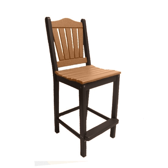 TRADITIONAL BAR HEIGHT CHAIR - CAMEL ON MOCHA