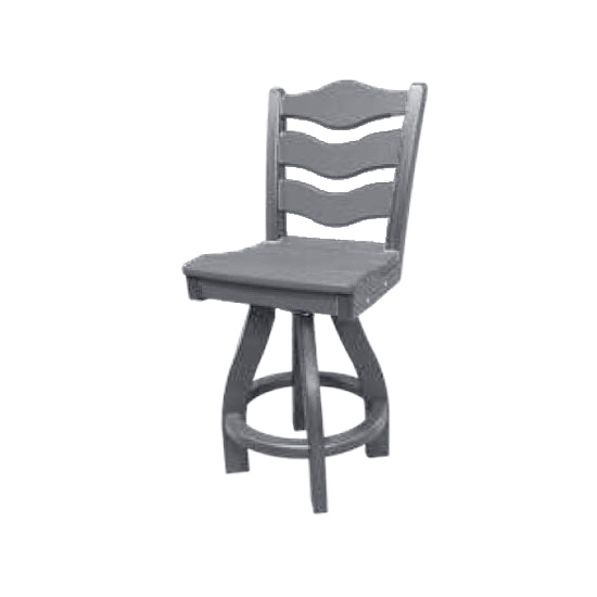 TRADITIONAL SWIVEL BAR HEIGHT CHAIR, GRAY