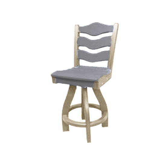 TRADITIONAL SWIVEL BAR HEIGHT CHAIR, GRAY ON SANDSTONE