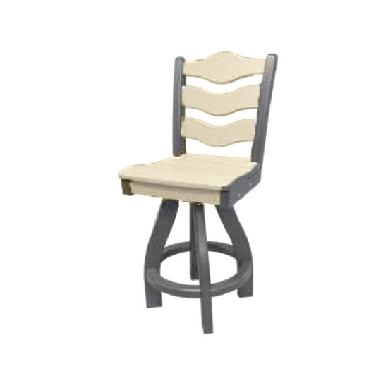 TRADITIONAL SWIVEL BAR HEIGHT CHAIR, SANDSTONE ON GRAY