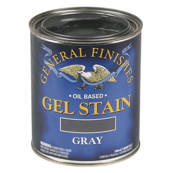 Gel Stain, Oil Based, Gray, Pint