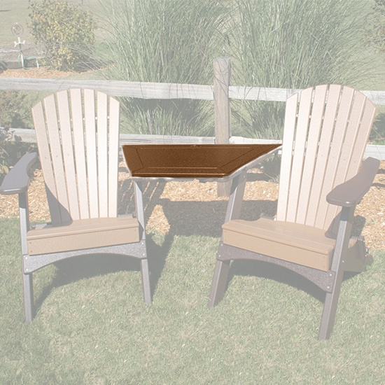 TETE-A-TETE ADIRONDACK TABLE, CAMEL