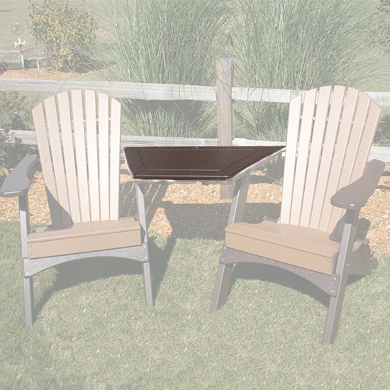 TETE-A-TETE ADIRONDACK TABLE, MOCHA