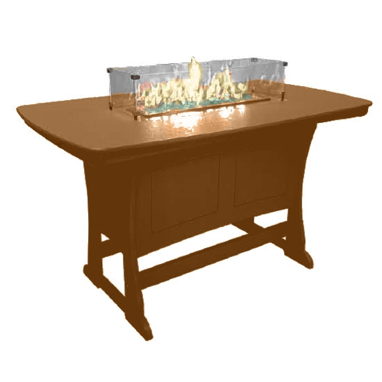 "72"" Bar Height Fire Table, Camel"