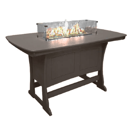 "72"" Bar Height Fire Table, Mocha"