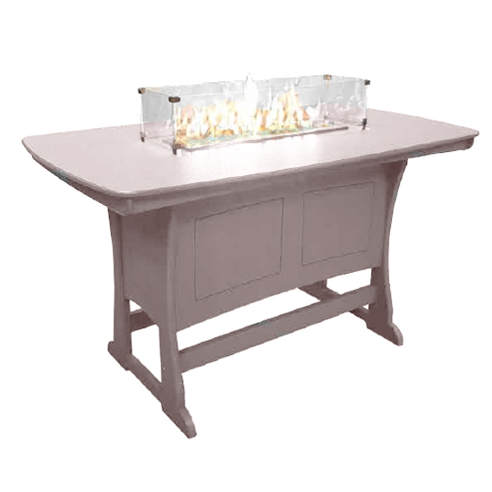 "72"" Bar Height Fire Table, Sandstone"