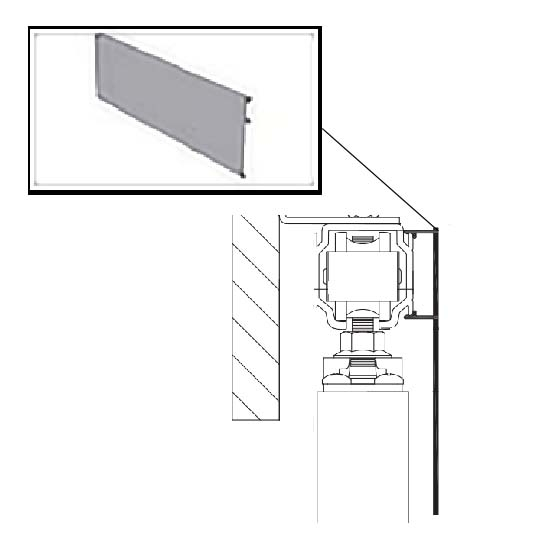 Clip-On Fascia Cover for A125 Sliding Door Hardware