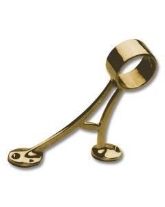 "FLOOR MOUNT BRACKET, 1.5\"" Polished Brass"