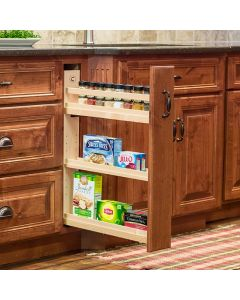 """Cascade Base Cabinet Pull-Out, Edge-Banded Baltic Birch,  3-1/2""""W x 21""""D x 26-1/4""""H 1"""