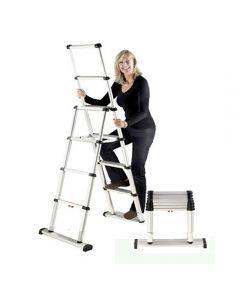 Telesteps 10-Ft. Climbing Height Telescopic Combination Ladder, 375 Lb. Capacity, Type 1AA
