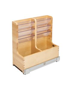 """L-Shaped Vanity Organizer w/ Soft-Close Tandem Blumotion Slides For 24"""" Base Cabinet"""