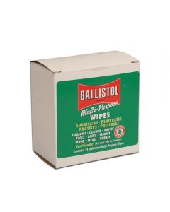 Ballistol Lubricant and Cleaner, Wipes, 10/box
