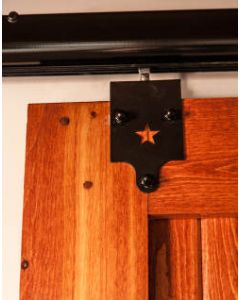 Rolling Door Hardware, Star, Black