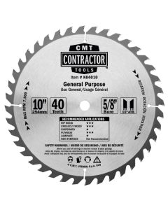 ITK Contractor General Purpose Saw Blade, 14 x 60 Teeth, 10° ATB with 1-Inch bore