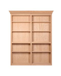 """InvisiDoor, 60\"""" Bifold Bookcase, Assembled, Unfinished, Cherry"""