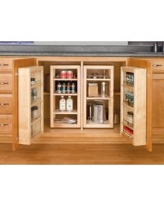 "57"" Pantry Door Unit Single (w/Hardware) Natural Wood Maple"