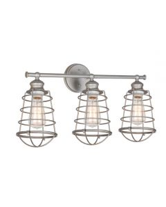 Ajax 3LT Vanity Light Galvanized