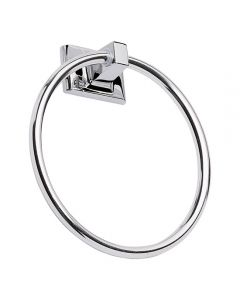 Millbridge Towel Ring Polished Chrome Metal