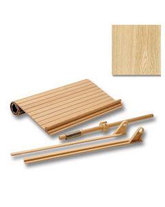 15 in. x 18 in. Solid Wood Tambour Door Kit, Red Oak