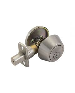 Deadbolt Single Cylinder Satin Nickel 6-Way
