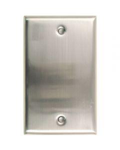 Satin Nickel Single Blank Switchplate
