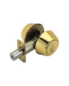Deadbolt Double Cylinder Polished Brass