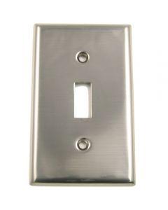 Satin Nickel Single Switch Switchplate