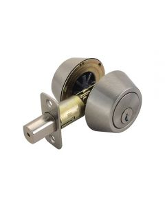 Deadbolt Double Cylinder Satin Nickel
