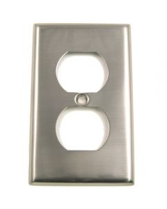 Satin Nickel Single Recep Switchplate