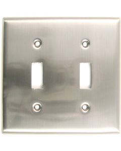 Satin Nickel Double Switch Switchplate
