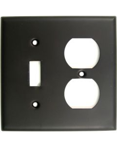 Oil Rubbed Bronze Double Switch & Recep Switchplate