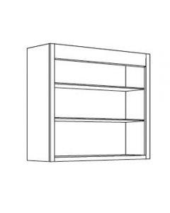 Open Shelf 30 W X 42 H X 12 D - Imperio Dove Series by Fabuwood