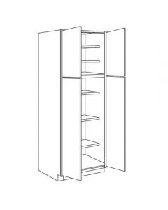 Pantry Cabinet 30 W X 96 H X 24 D - Imperio Dove Series by Fabuwood