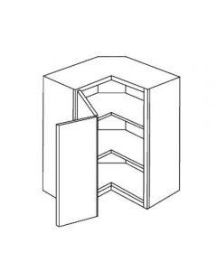 Diagonal Wall 24 W X 30 H X 12 D - Imperio Dove Series by Fabuwood (Pie cut)