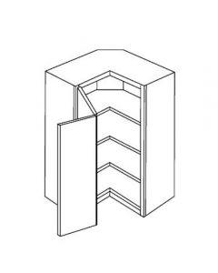 Diagonal Wall 24 W X 36 H X 12 D - Imperio Dove Series by Fabuwood (Pie cut)