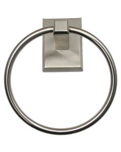 Utica Satin Nickel Towel Ring
