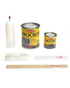 Abocrete Concrete Restoration Kit- 1 Quart Resin, 1/2 Pint Hardener, Light Gray