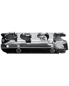 Clip In-line Mounting Plate, 0mm, Onyx Black, Cam Adjustable Height, Screw-on