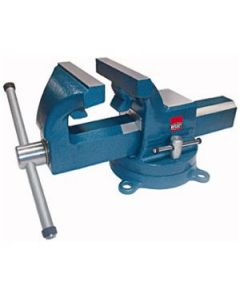 Vise, 5 In., drop forged, pipe jaws, swivel base and anvil included