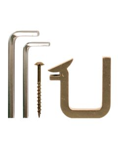 EG Polished Brass Bracket Kit, Includes 1 Bracket, 2 Allen Wrenches and 1 Screw