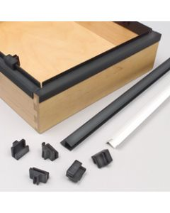 File Rail Clips Black PVC