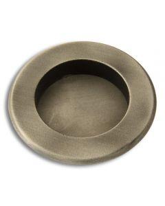 "Round Flush Pull 2-1/2\""dia. Weathered Antique Nickel"