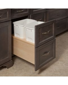 "Cascade 35 Qt. 17-7/8"" Wide Double Waste System w/Heavy Duty Blum MOVENTO Undermount Slides 1"