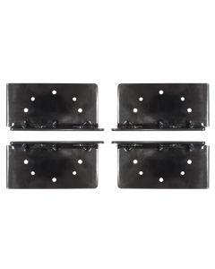 Bed Bracket Set For Standard Beds, Black