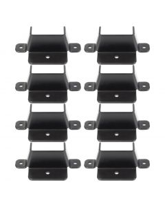 Dovetail Bracket Set For Bed Support Slats, Black